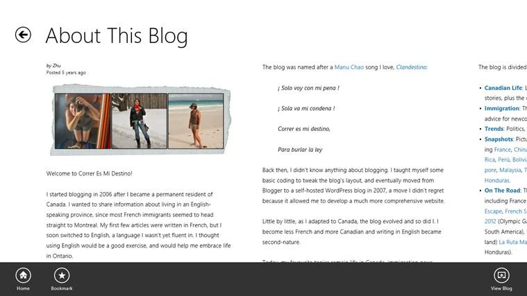 Correr Es Mi Destino - The Blog posnetek zaslona 5