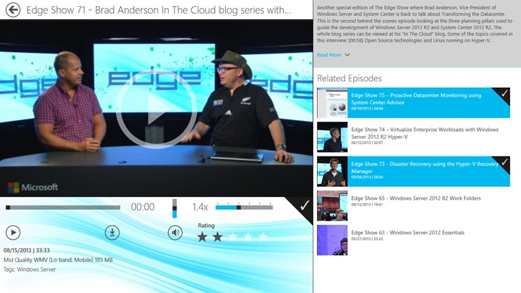 TechNet Edge Show screen shot 3