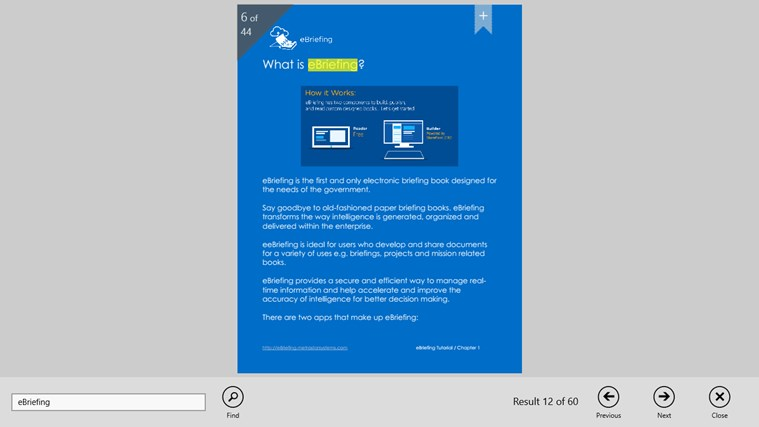 eBriefing screen shot 7