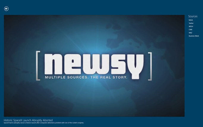Newsy screen shot 1