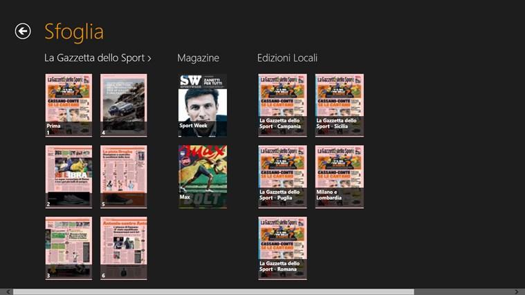 La Gazzetta dello Sport - Digital Edition cattura di schermata 1