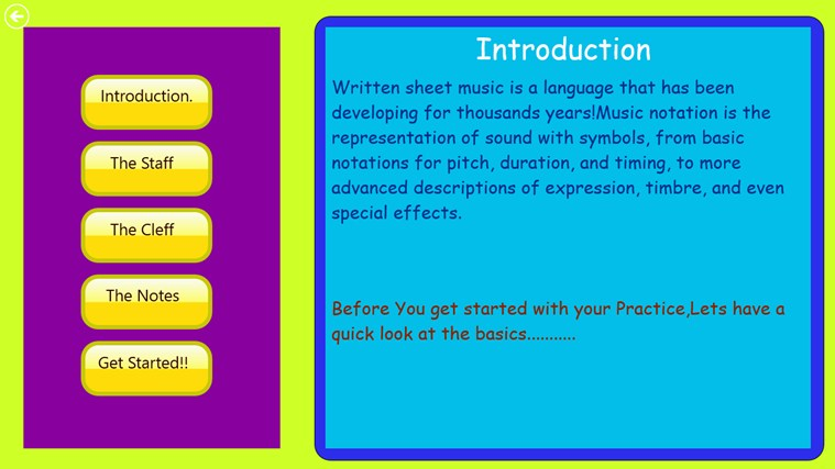 Learn Sheet Music!! screen shot 1