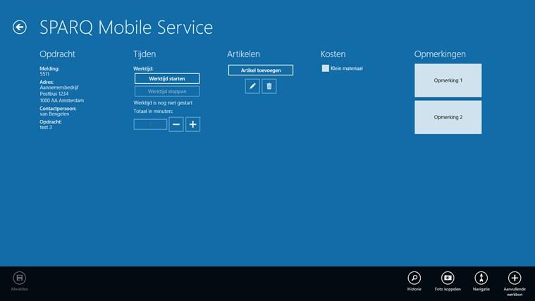 SPARQ Mobile Service screen shot 1