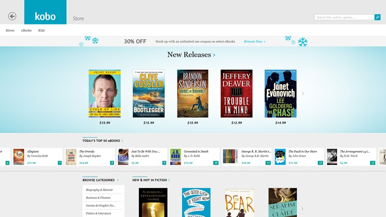 Kobo Books screen shot 1