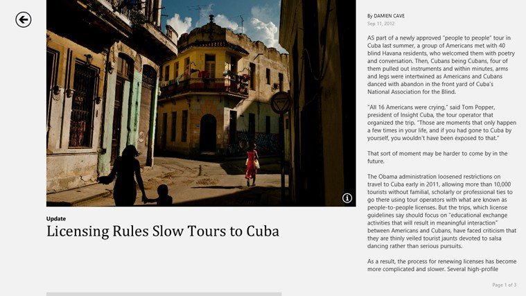 The New York Times screen shot 1