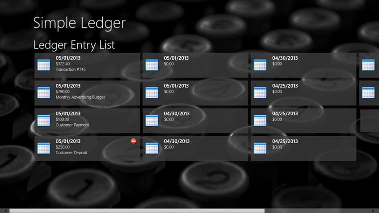 Simple Ledger screen shot 1