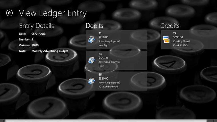 Simple Ledger screen shot 3