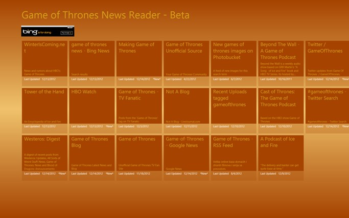 Game of Thrones News Reader Screenshot 1
