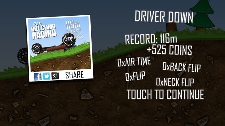 Hill Climb Racing screen shot 5