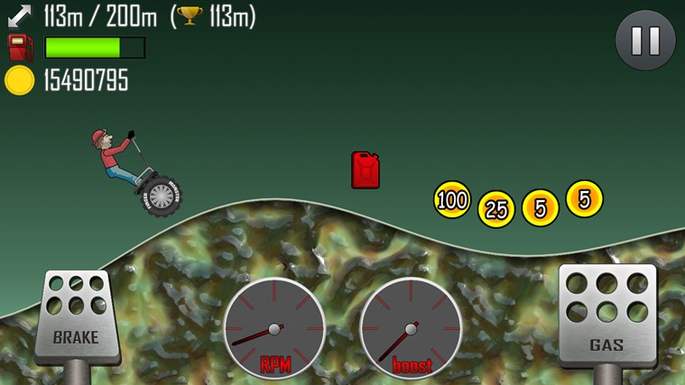 Hill Climb Racing screen shot 7