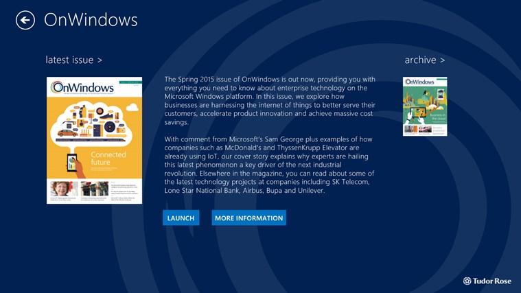 OnWindows screen shot 1