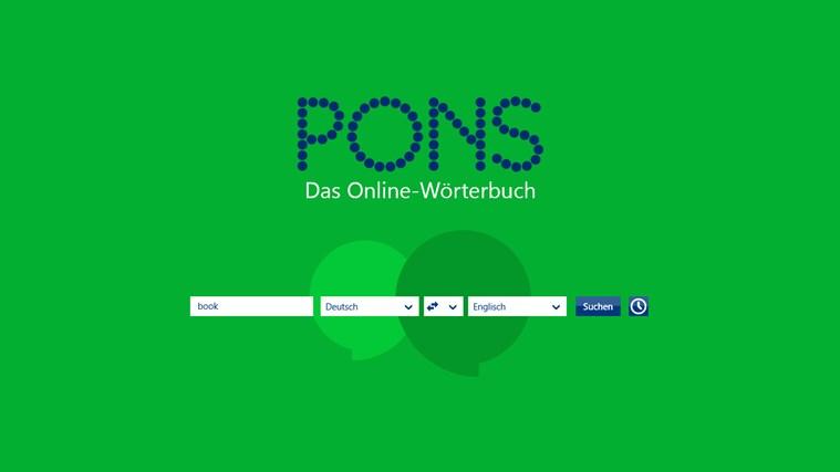 PONS Online-Wörterbuch Screenshot 1