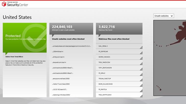 Trend Micro Security Center screen shot 1