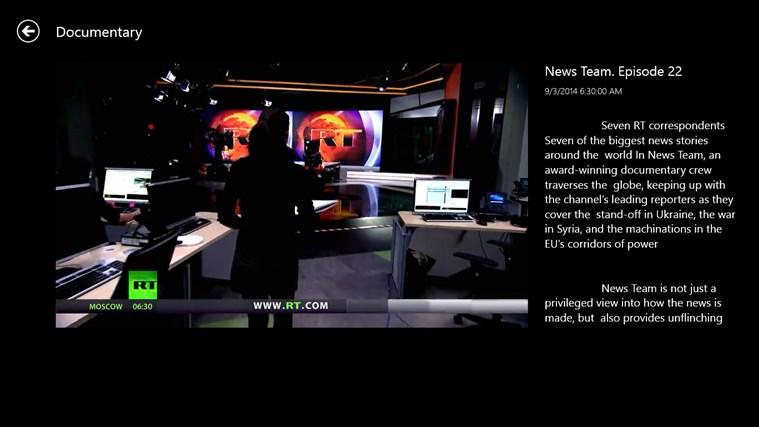 RT News English screen shot 5