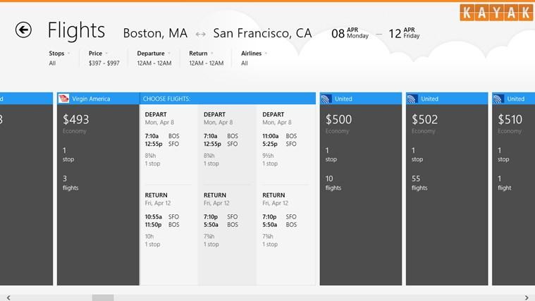 KAYAK Flights & Hotels screen shot 1