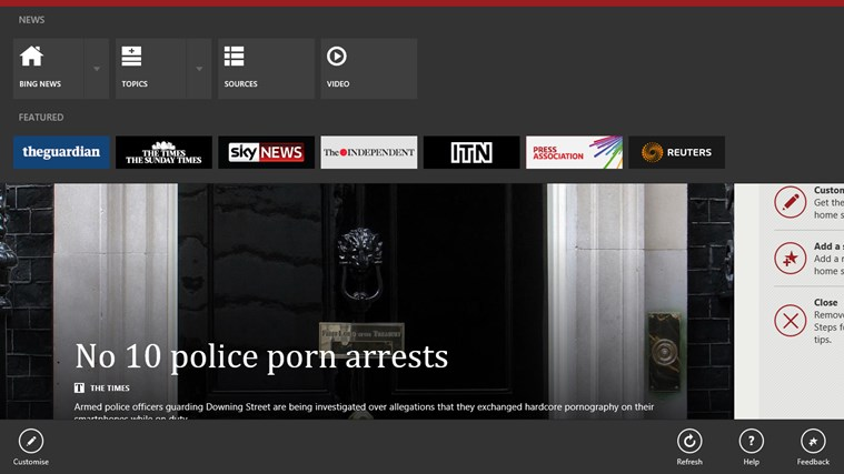 Bing News screen shot 1
