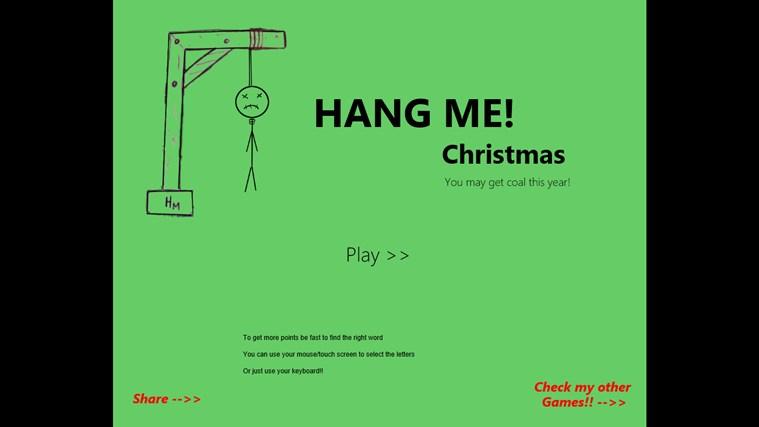 Hang Me Christmas screen shot 1