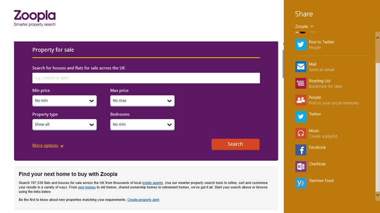Zoopla Property Search screen shot 1