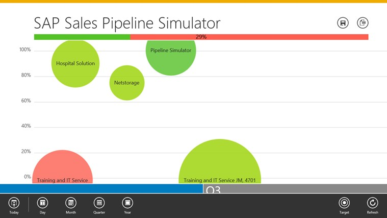 SAP Sales Pipeline Simulator screen shot 1