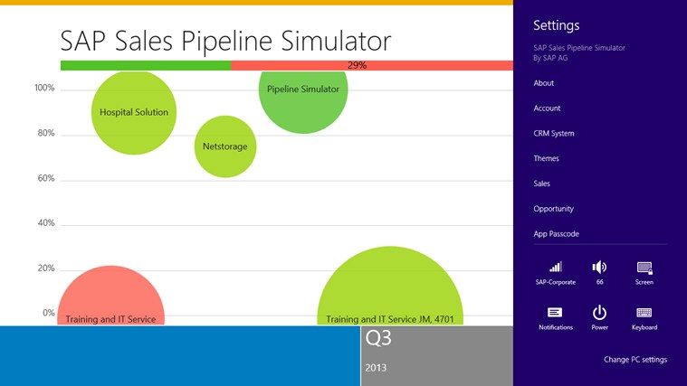 SAP Sales Pipeline Simulator screen shot 3