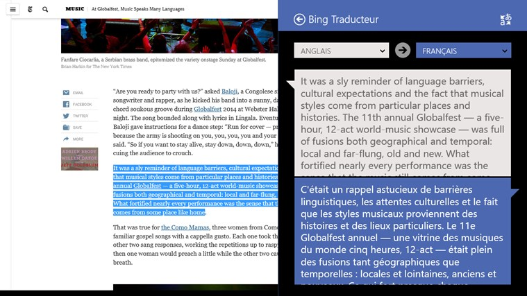 Bing Traducteur capture d'écran 3