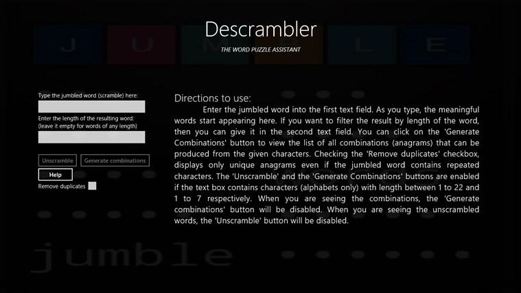 Descrambler - The Jumbled Word Unscrambler gabháil scáileáin 5