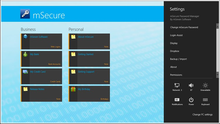 mSecure screen shot 7