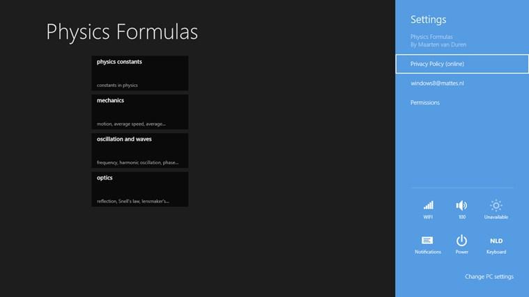 Physics Formulas screen shot 3