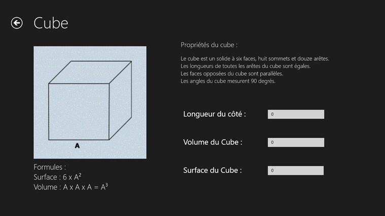 Calcul Surface et Volume screen shot 1
