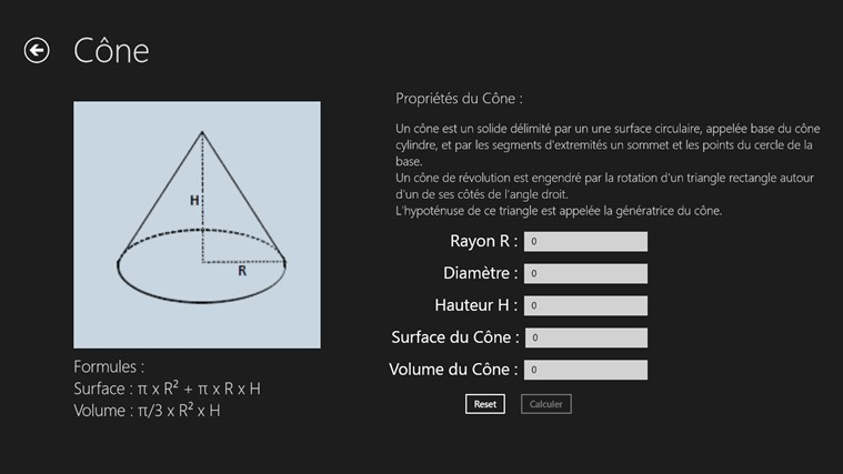 Calcul Surface et Volume screen shot 5
