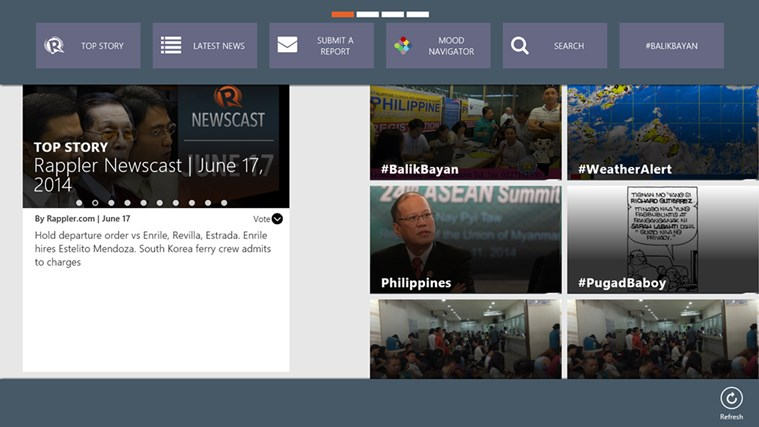 Rappler screen shot 1