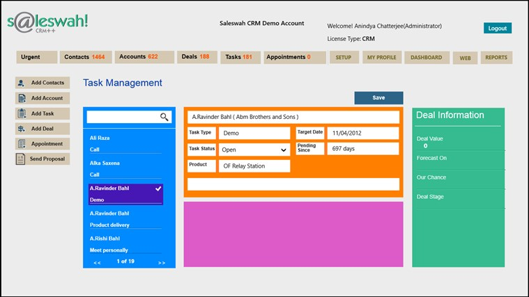 Saleswah Lite CRM screen shot 7