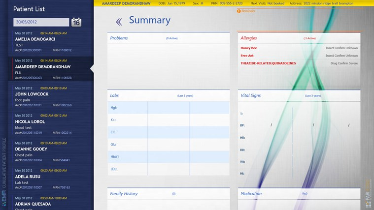 EMR Surface screen shot 1