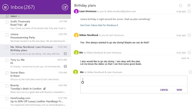 Yahoo! Mail screen shot 3