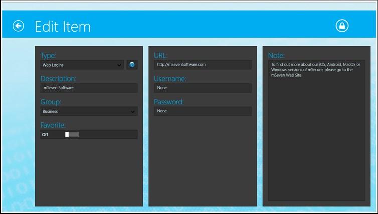 mSecure for Windows 8 and Lenovo captura de pantalla 3