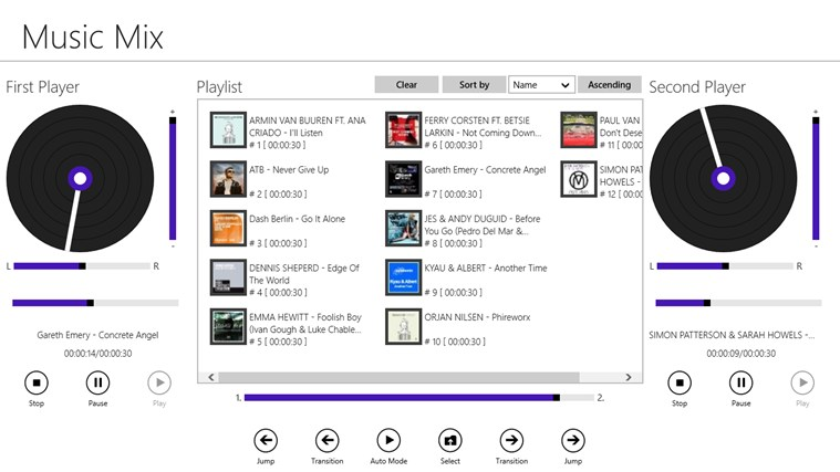 Music Mix screen shot 1