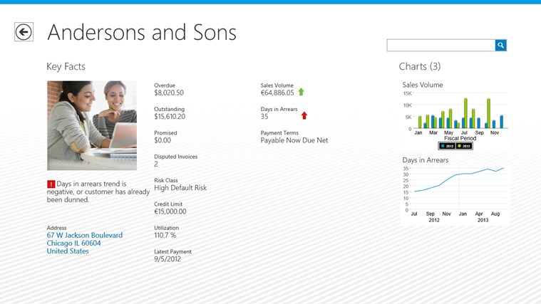 SAP Customer Financial Fact Sheet screen shot 1
