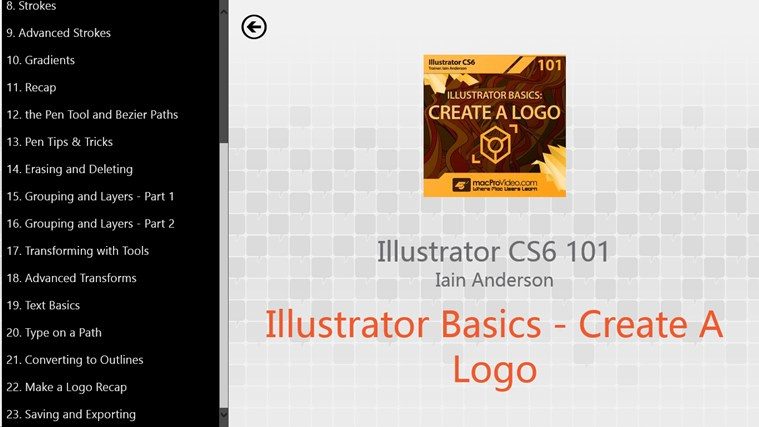 Illustrator CS6 Basics - Create A Logo screen shot 1