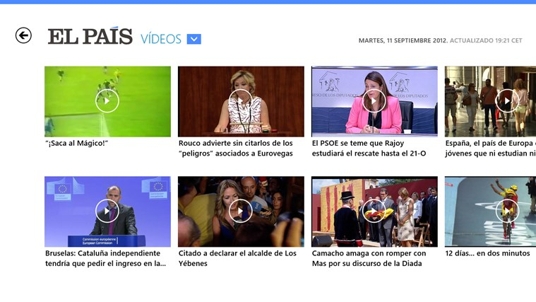 El País screen shot 7