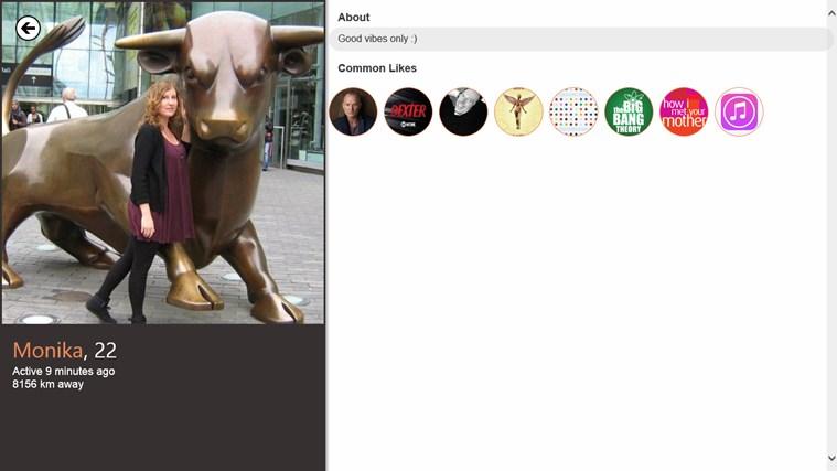TinderWindows screen shot 1