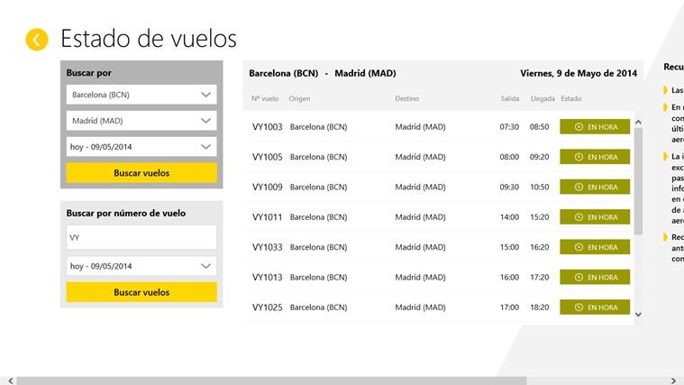Vueling Airlines captura de pantalla 3