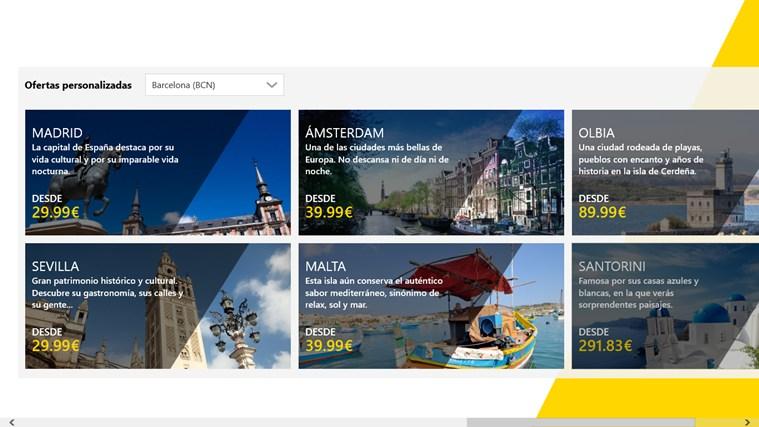 Vueling Airlines captura de pantalla 5