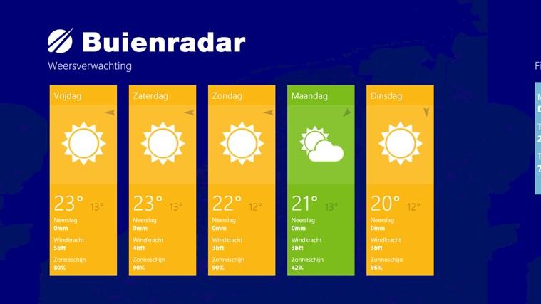 Buienradar screen shot 3