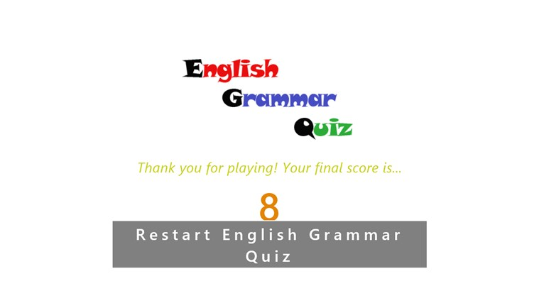 English Grammar Test screen shot 3