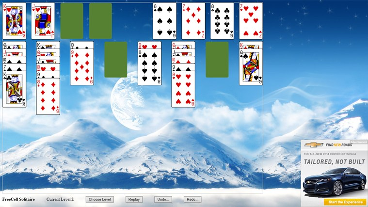 *FreeCell Solitaire screen shot 1