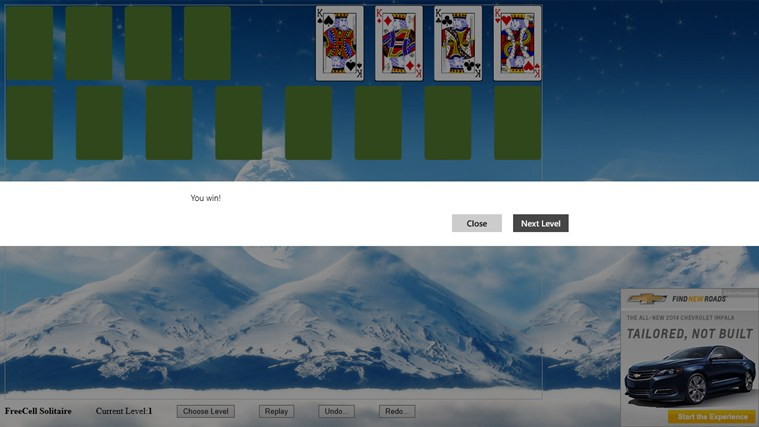 *FreeCell Solitaire screen shot 3