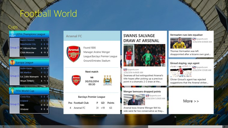 Football World posnetek zaslona 1
