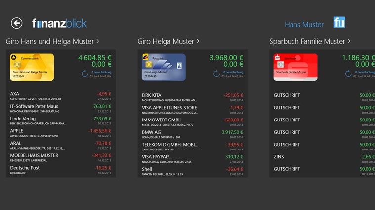 finanzblick Screenshot 1