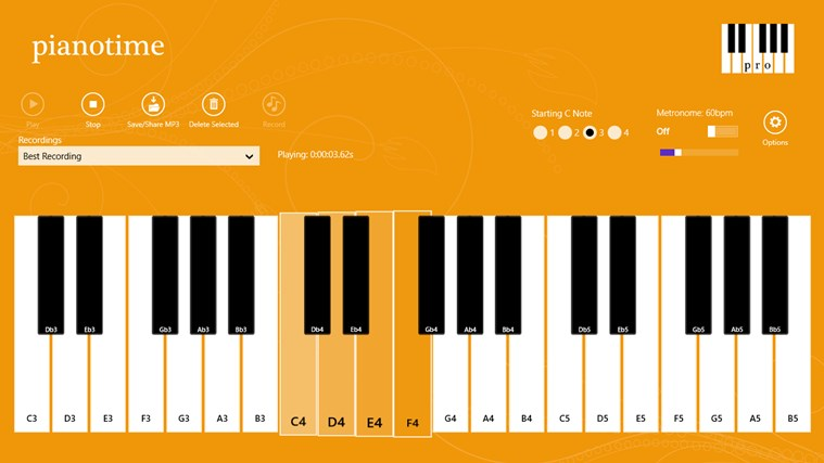 Piano Time Pro screen shot 1