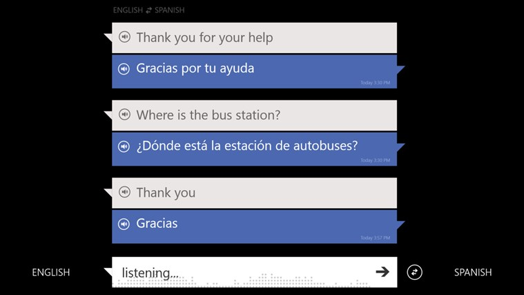 Translator screen shot 1